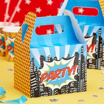 Super Hero Party Food Boxes - pack of 5